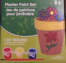PLANTER PAINT SET includes Pot Paint Brush 3 Colors DIY Terracotta Plant Pot - $9.99