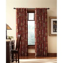 """NEW 2 Pack Floral Cottage Light Filtering Window Panels in Terracotta 54"""" x 84"""" - $28.50"""