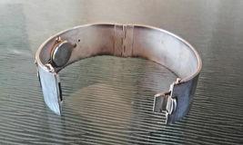 Vintage Gorham Unicorn Two Tone Hinged Bangle Bracelet Wrist Watch in Box RARE F image 6