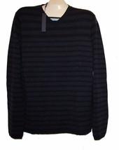 Elie Tahari Dark Blue Striped Men's V-Neck Wool  Sweater Size XL NEW Ret... - $79.19