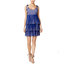 Guess Women's Annette Pleated Tie-Strap Dress Size Large - $63.36