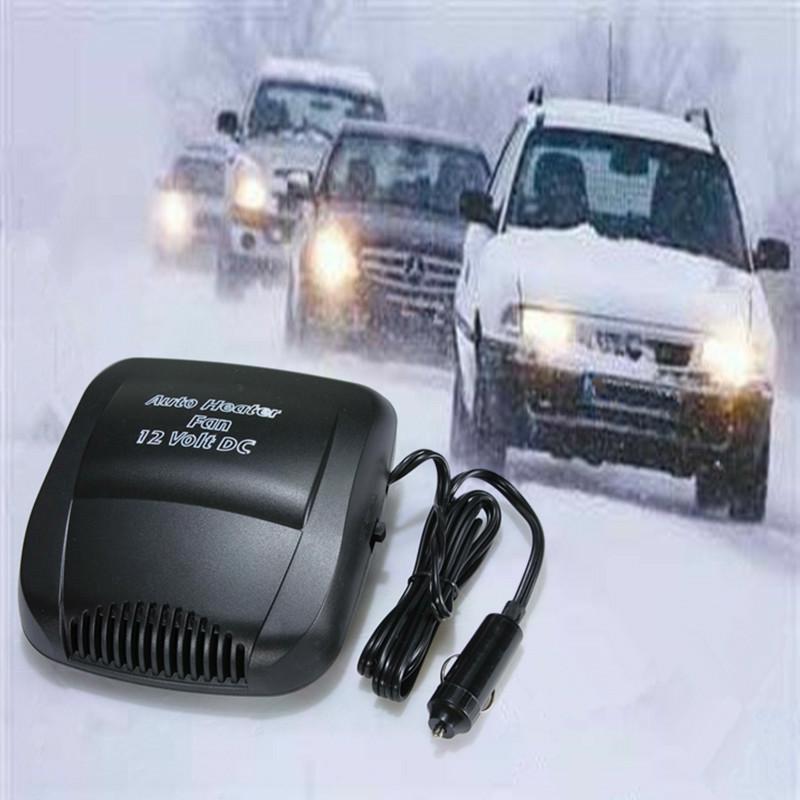 New Car Heating Fan 12V 150W Portable Black Windscreen Defroster Demister Fan