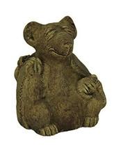 Designer Stone Driftwood Gray Zen Rat Concrete Statue - $39.46