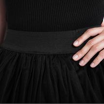 Black Slit Tulle OVERSKIRT Elastic Waist hilo Tulle Skirt Open Skirt Over Skirt image 7