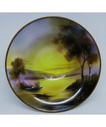 "Antique  Morimura Green 1920's Hand Painted 8 1/2"" Bowl Waterscape Scene - $32.95"