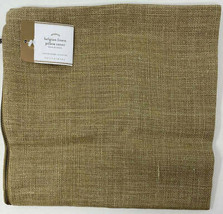 Pottery Barn Belgian Flax Pillow Cover Straw 24 sq Farmhouse Beige Libec... - $78.35