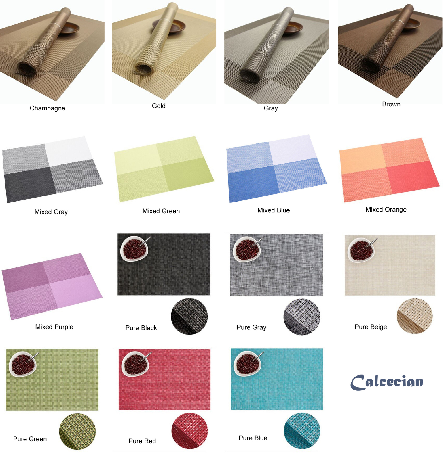Placemats Washable Table Cloth Mat Tablemat Stain-Resistant Coaster Non-slip Pad - $7.08 - $19.78