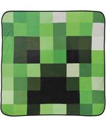 Minecraft Creeper Face Fleece Throw Blanket Multi-Color - $36.98