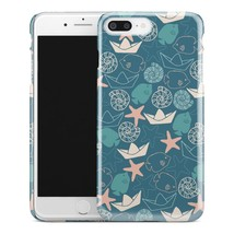 Casestry | Blue Abstract Sea Life Paper Boats | iPhone 7 Plus Case - $11.99