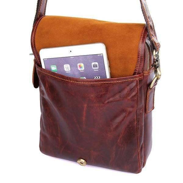 Sale, Men's Leather Satchel Bag, Messenger Bag, Leather Messenger, Shoulder Bag image 5