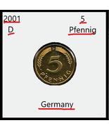 2001D, Germany: 5 pfennig (Proof) - $1.27