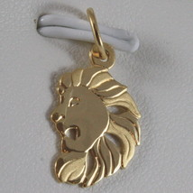 SOLID 18K YELLOW GOLD ZODIAC SIGN PENDANT, ZODIACAL CHARM, SATIN, MADE IN ITALY image 1