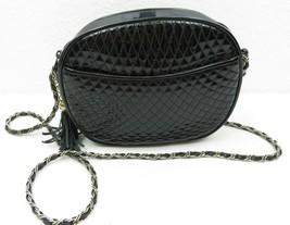 """Vintage ANDE Handbag Black Patent Clutch Purse Bag Shoulder Strap 8"""" X 6... - $20.00"""