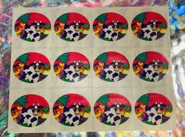 Mint Vintage  Lisa Frank Full Sticker Sheet S112 Sunglasses Tropical Cow