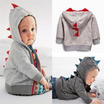 Baby Kids Cartoon Dinosaur Autumn Coats Baby Kids Zipper Hooded Outwear - $17.52 CAD+