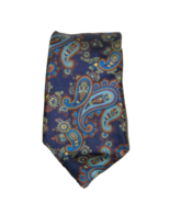 Marc Lewis Blue Paisley 100% Silk Neck Tie 56 inches 16544 - $17.81