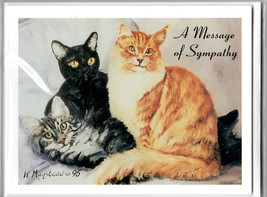 Cat Notecards Sympathy Message Set of 6 + Envelopes Pets We Love In Our ... - $12.86