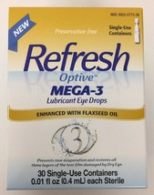 (New) Refresh Optive Mega-3 Lubricant Eye Drops - 30 Single Use Containers - $16.42