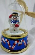 "** Mr Christmas Snowman wind up musical 5"" tall - $22.77"
