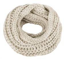 Kaisifei Knitted Winter Warm Infinity Scarf Beige - ₨809.58 INR