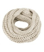 Kaisifei Knitted Winter Warm Infinity Scarf Beige - ₨804.41 INR