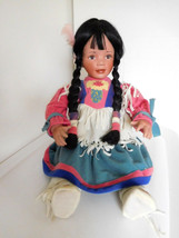 """Laura Cobabe 15""""-24"""" Indian Native American Girl Porcelain by Hamilton - $28.99"""