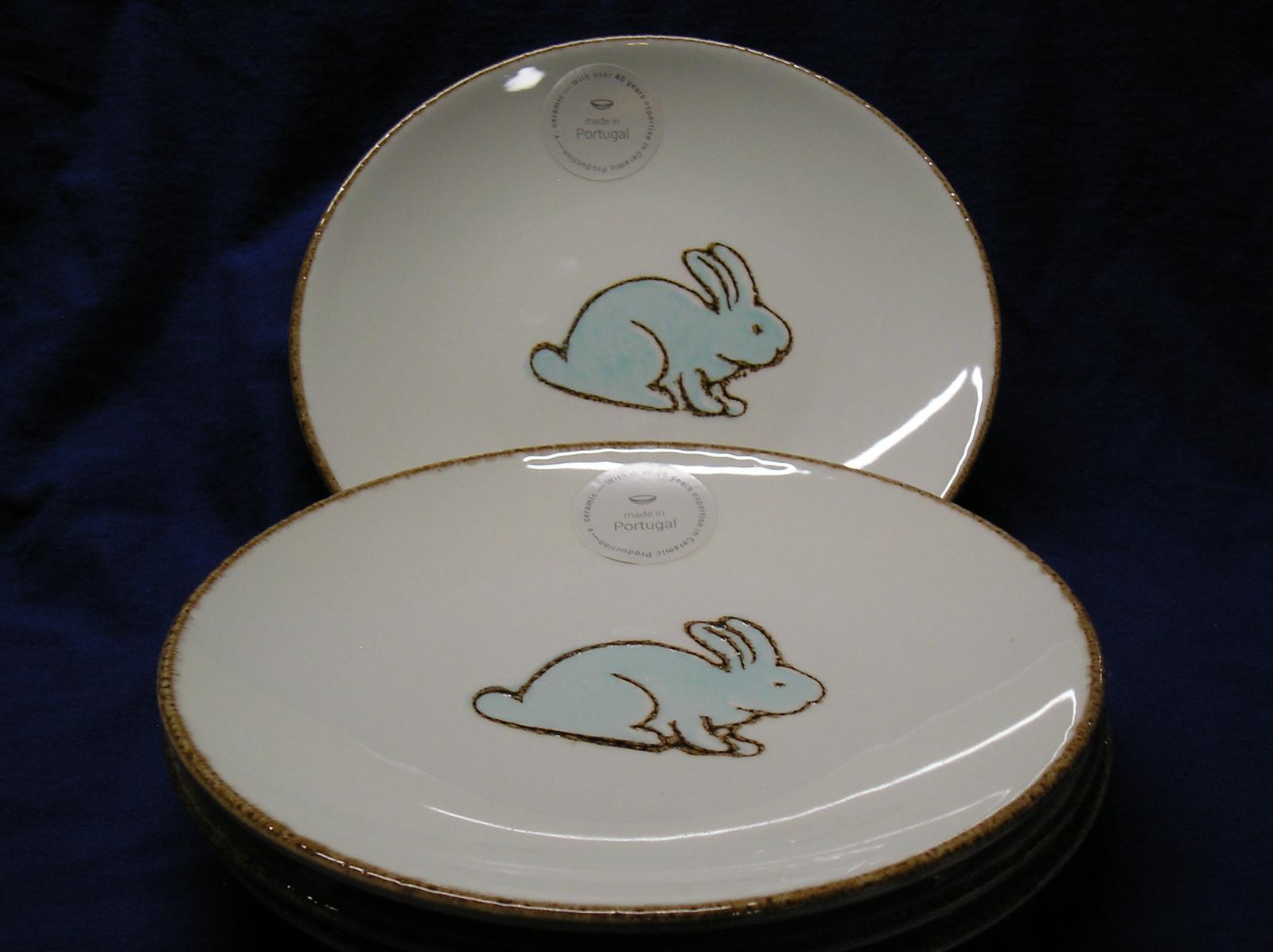Pier 1 Imports White Easter Bunnies Ceramic Pedestal