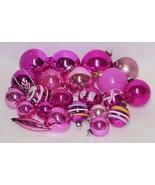 Large Lot VINTAGE PINK GLASS CHRISTMAS ORNAMENTS - $59.99