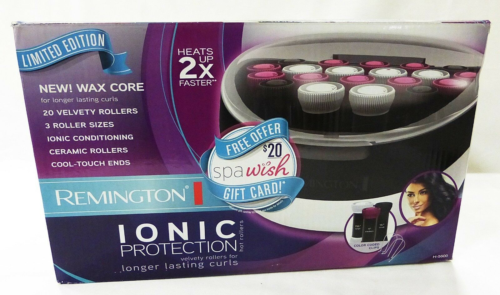 Primary image for Remington hair care ionic protection limited edition ceramic rollers and clips