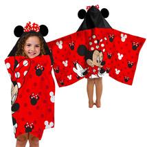 Kids Hooded Bath Towel Cotton Minnie Mouse Toddler Girl Beach Pool Bathrobe - $34.94