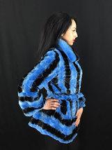 Luxury gift/ Blue/black /Mink fur coat/ Wedding,or anniversary present image 2