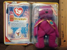 Mcdonald happy meal TY Teenie Beanie Baby  Millennium the Bear new in the box. - $3.49