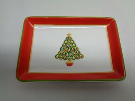 Charter Club CHRISTMAS TREE Ceramic Tray NEW Macys Holiday Lane - $34.65