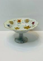 Lipper & Mann  Lusterware Compote Pedestal Bowl-Porcelain w-Gold Trim/Fa... - $12.61
