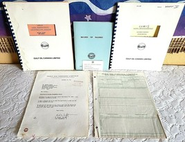 GULF OIL CANADA LIMITED 1975 Gasoline Lot Of 6, Univ of Florida Nuclear ... - $20.00