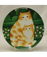 Felicia & Felina Dept. 56 Cats Porcelain Plate Martin Leman Collectible ... - $29.69