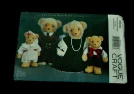 Vogue Crafts Vintage Sewng Pattern 8959 The Vogue Bear Family Wardrobe C... - $7.50