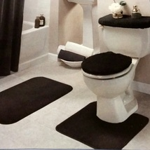 Black Bathroom Rug Set 4 Pc - $29.99