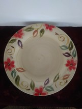 "Pier 1 One Imports Laurina Ceramic Cream Floral Serving Dinner Plate 11 1/4"" - $27.10"