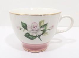 """Glenwood Teacup by Homer Laughlin 2 3/4"""" Pink Rose Gold Trim - $24.99"""