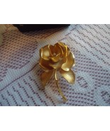 Vintage Cerrito Gold Tone Rose Pin Excellent condition - $20.00