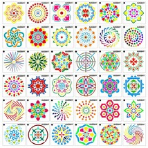 36 Pack Mandala Dot Painting Templates Stencils Perfect for DIY (3.6x3.6... - $15.85