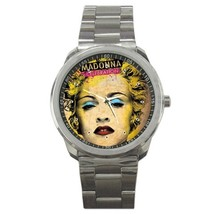 Madonna Celebration Custom Sport Metal Men Watch  - $15.00