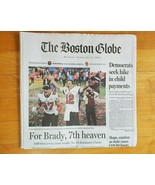 Tom Brady Tampa Buccaneers Wins Super Bowl LV Boston Globe Newspaper  2-... - $21.77