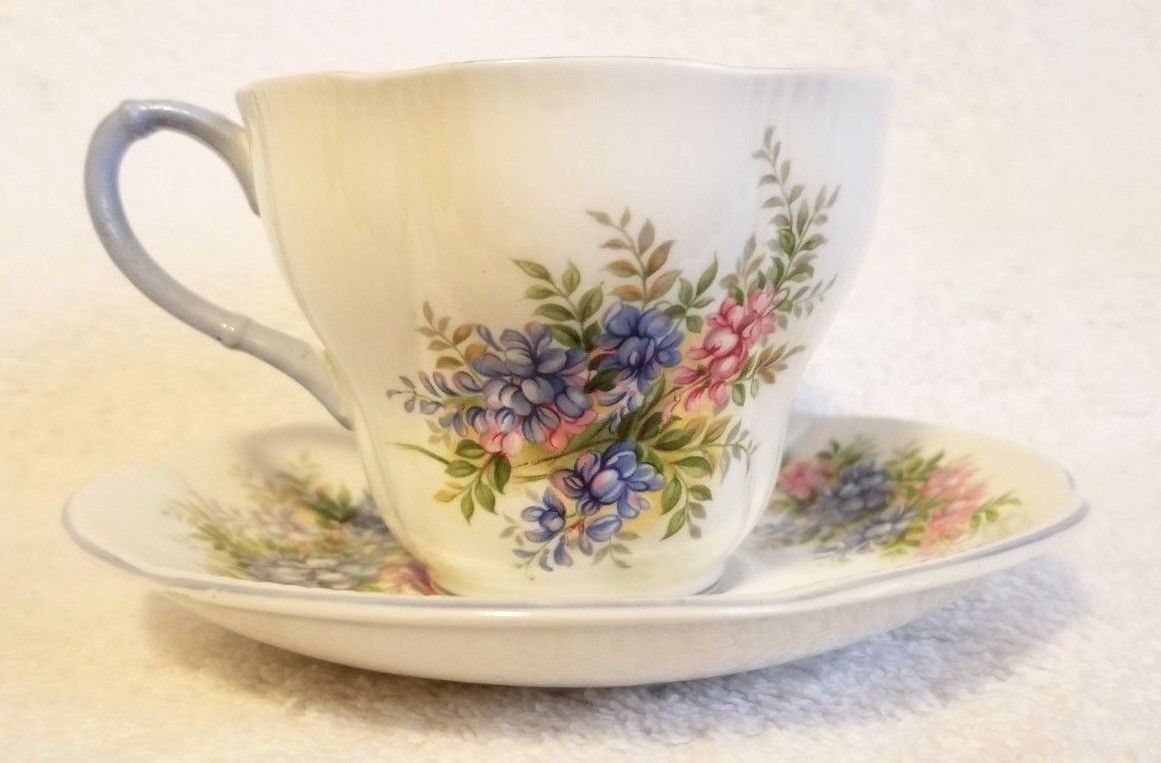 Primary image for Royal Albert Bone China Blossom Time Series WISTERIA Tea Cup & Saucer Teacup