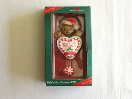 1996 American Greetings Baby's First Christmas Bear Pull String Arms Hea... - $18.99
