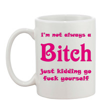 I'm Not A BI**H 10oz Mug Rude Swearing Perfect Gift Can Be Personalised  - $8.93