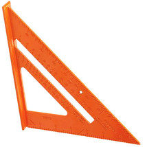 ALUMINIUM ALLOY ROOFING SQUARE ROOFER ANGLE MEASURING TRIANGLE GUIDE TOO... - $4.04