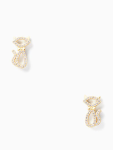 Kate Spade New York Jazz Things Up Pave Cat Studs - $18.80