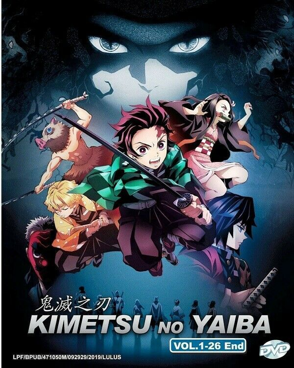 Kimetsu no Yaiba Complete TV Series 1-26 End DVD English Dub Ship From USA